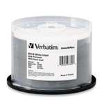 VERBATIM BLU-RAY 25GB 50PKT SPINDLE WHITE INKJET 6X