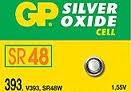 GP SR48 393 1.55V SILVER OXIDE BATTERY