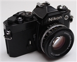NIKON FM OR FE FILM CAMERA WITH 50MM LENS USED