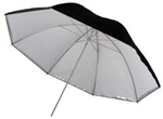 "UMBRELLA 40"" TRANSLUCENT & REMOVEABLE BLACK / SILVER"