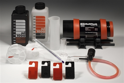 Darkroom kits for processing of black&white 35mm film, 120